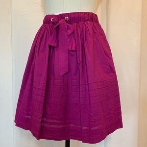 Anthropologie Full Skirt in Plum